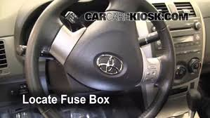 interior fuse box location toyota corolla toyota locate interior fuse box and remove cover
