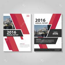 red black annual report leaflet brochure template design book cover layout design abstract red