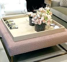 Decorating An Ottoman With Tray Round Ottoman Tray Large Square Ottoman Tray Wood Info With Regard 15