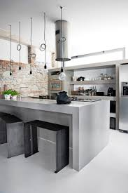 Industrial Kitchens design grey metal industrial kitchen faux brick wall decor 8399 by guidejewelry.us
