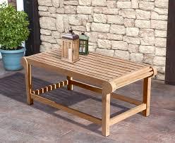 lutyens style teak outdoor coffee table
