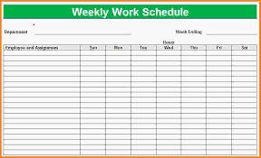 blank work schedule 11 blank schedule template letter template word