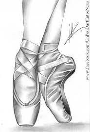 ballet shoes. pin drawn ballerina ballet shoe #2 shoes