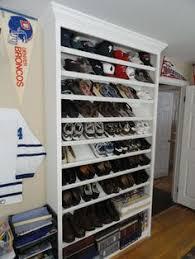 Custom built-in shoe rack.