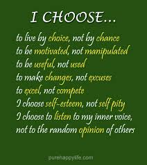 Life Quote I Choose To Live By Choice Not By Chance To Be Motivated Impressive Quoted Meaning