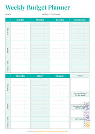 Free Budget Download Download Printable Simple Weekly Budget Template Pdf