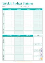 Download Printable Simple Weekly Budget Template Pdf