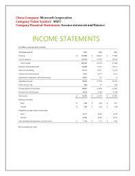 Financial Analysis Of Microsoft Ratio Analysis Of Microsoft Corporation