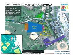 on twitter heads up the annual cambma jazz festival is sun 30 july 2018 fr noon to 6 p m at danehy park rain or shine see the attached map