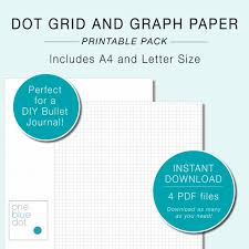 5mm Graph Paper Printable Dot Grid Paper Graph Paper A4 And Letter Size 5mm Spacing Diy Bullet Journal Bullet Journaling Sheets Instant Download