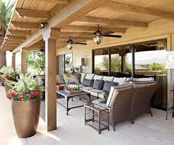 Covered patios are a great way to enjoy the outside even when the weather isn
