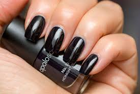 Nail Arts : Black Nails Matte Polish Designs With Black Stripes ...