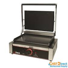 electric countertop grill with single 14 flat plate