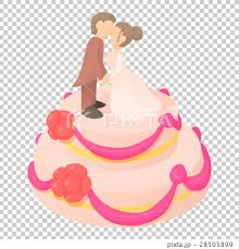 Wedding Cake Icon Cartoon Style Stock Illustration 28505899 Pixta