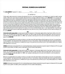 Business Loan Agreement New Loan Agreement Template Personal Business Loan Agreement Template