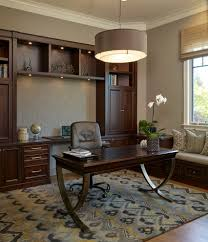 rug pad for home office traditional with dark wood desk roman shade