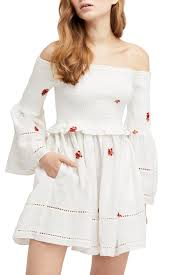 Free People Counting Daisies Embroidered Off The Shoulder Dress Nordstrom Rack