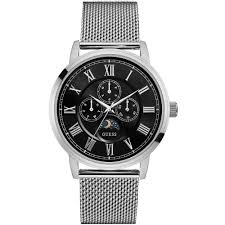 guess men s silver and black watch w0871g1 £152 10 guess men s silver and black watch w0871g1 £152 10 thewatchsuperstore com™