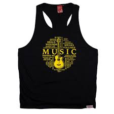 Birthday Vest Design Bm Mens Music Is My Life Guitar Design Tank Top Funny Christmas Casual Birthday Vest