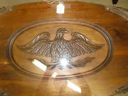 vintage eagle under glass top carved