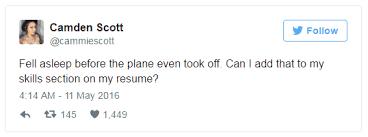 resume section headings titles tweet 3