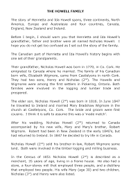 THE HOWELL FAMILY The story of Henrietta and Ida Howell spans, three  continents, North America, Europe and Australasia and f
