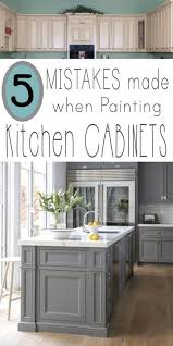 Professional Painting Kitchen Cabinets Beauteous Mistakes People Make When Painting Kitchen Cabinets Diy