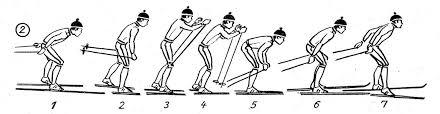 Одновременный одношажный коньковый ход специальные  Одновременный одношажный коньковый ход