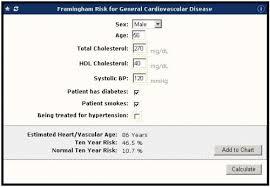 Framingham Risk Score Chart Galen Ecalcs Calculator Framingham Risk For General Cvd