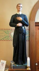 statue of gerard majella at the holy trinity catholic church trinity indiana
