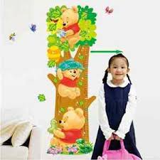 Child Height Chart For Wall Details About Winnie The Pooh Growth Chart Wall Sticker Children Height Chart Measure Decal