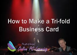 Tri Fold Business Card Template Word How To Make Tri Fold Business Cards Office Tutorials