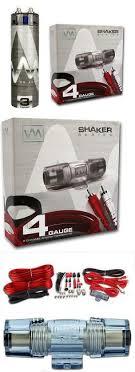 capacitors pc10f planet audio 10 farad power capacitor amplifier kits vm audio srpk4r 4 gauge ga car amplifier amp wiring kit 3 farad