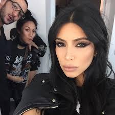 kim kardashian s y eye in paris see her makeup look hollywood life
