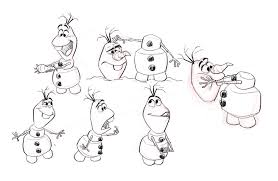 Olaf Character Design Sheet