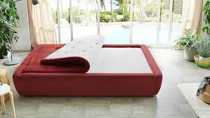 Boxspringbett Kim Bett Schlafzimmer Rot Weiß Mit Wendetopper 140