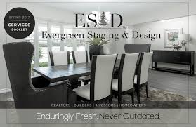Evergreen Staging And Design Evergreen Staging Design Services Booklet By Evergreen