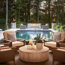 living room carolina design associates: carolina design associates m fire pit gray wicker sofa chairs