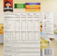 quaker instant grits flavor variety 50 pack variety value box amazon co uk grocery