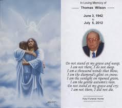 Funeral Prayer Cards Funeral Prayer Cards Thomas J Wilson Funeral Prayer Card Jpg