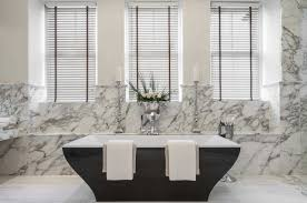 Bathroom Decorative Wall Panels Black Porcelain Stand Alone Soaking Tub And White With Gray