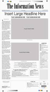 Newspaper Template For Photoshop Old Newspaper Template Elegant Fake Newspaper Template Photoshop