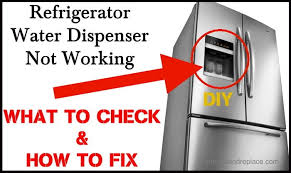 refrigerator water dispenser not working how to fix refrigerator water dispenser not working