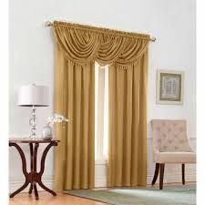 stunning decoration gold curtain panels projects ideas portofino polyester valance with onion fringe com