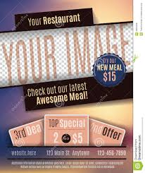 template for advertisement restaurant flyer advertisement template stock vector image 49803946