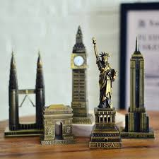 new 3d world famous landmark building metal models eiffel tower desk decro gift for friend crafts