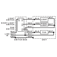 nutone bathroom fan light wiring Bathroom Light Fan Wiring Diagram NuTone Exhaust Fan Wiring Diagram