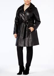 plus size leather trench coat jones new york