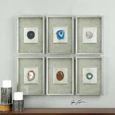 wall arts shadow box wall art set of 6 colorful agate stones in silver leaf on shadow box wall art sydney with wall arts shadow box wall art like this item shadow box wall art