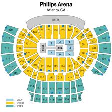 Wells Fargo Arena Seating Chart Wwe Philips Arena Wwe Live Yoga White Rock